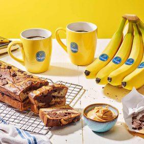Peanut butter and chocolate Chiquita banana bread