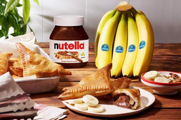 Quick Nutella® Chiquita® banana Greek calzone with nuts