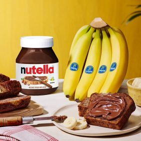 Signature Chiquita® banana bread with Nutella®