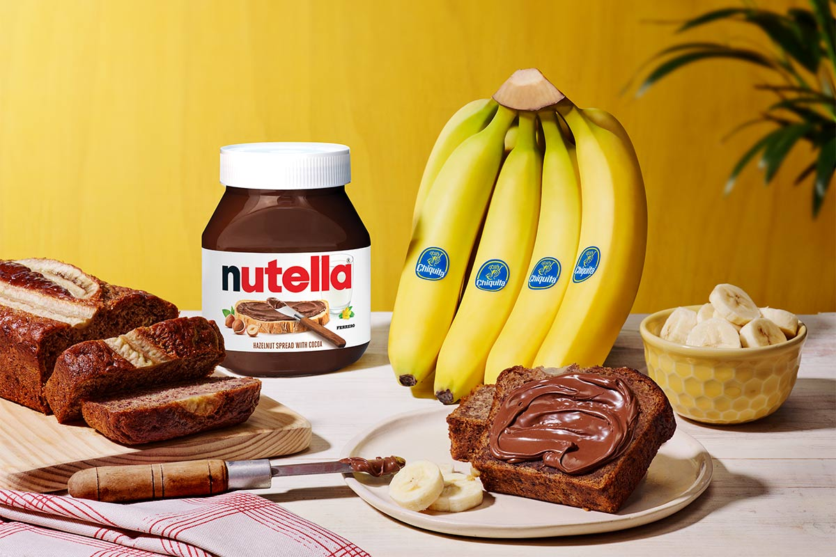 Signature Chiquita® bananabread with Nutella®