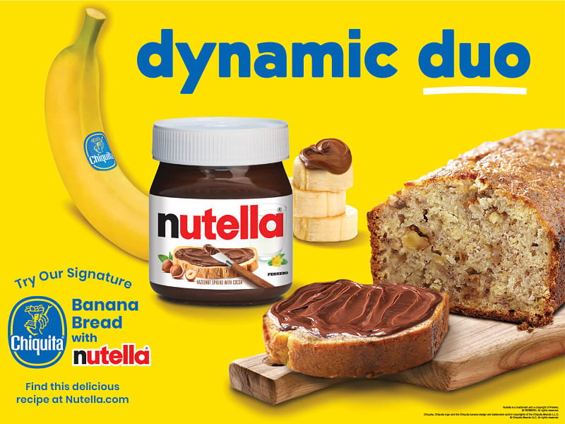 Chiquita Teams Up With Nutella® For An A-Peeling Collaboration