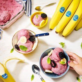 Frozen Banana nice cream by Chiquita