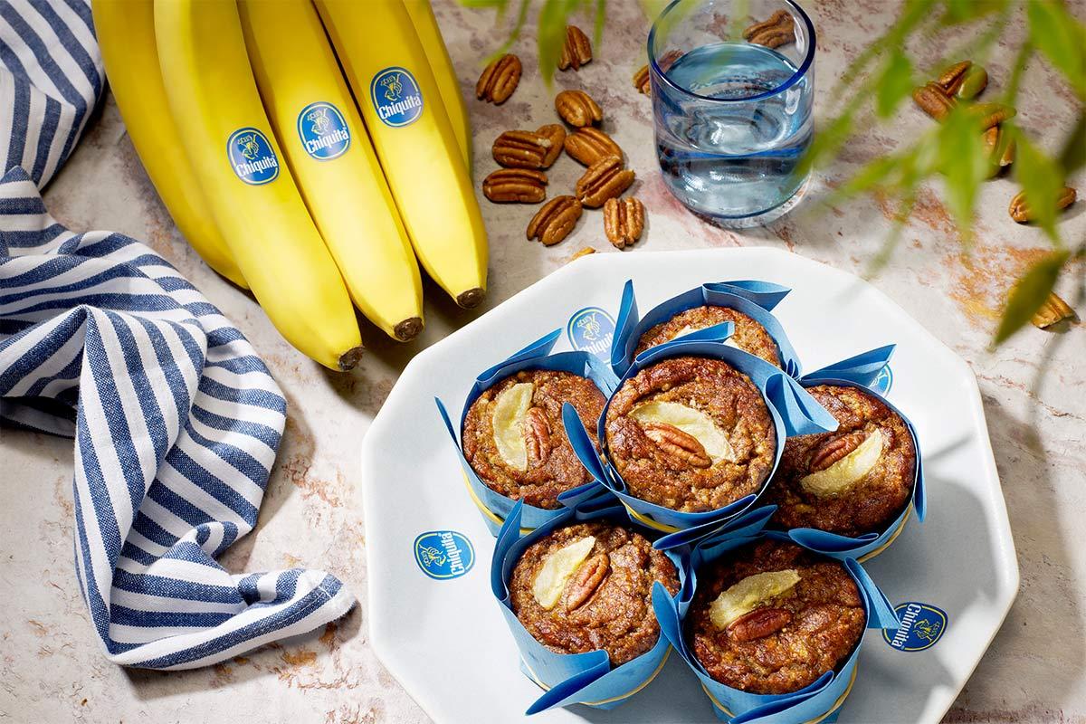 Paleo banana and pecan nut muffins By Chiquita