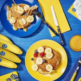 Post-workout banana protein pancakes by Chiquita