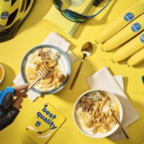 Post-workout greek yogurt, banana & peanut butter bowl by Chiquita