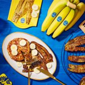 Vegan banana peel bacon by Chiquita