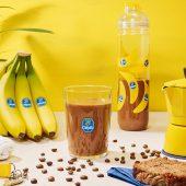 Workout banana & mocha protein shake by Chiquita