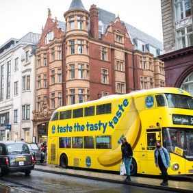Chiquita Reignites London's Streets with Bright Branded Banana Buses