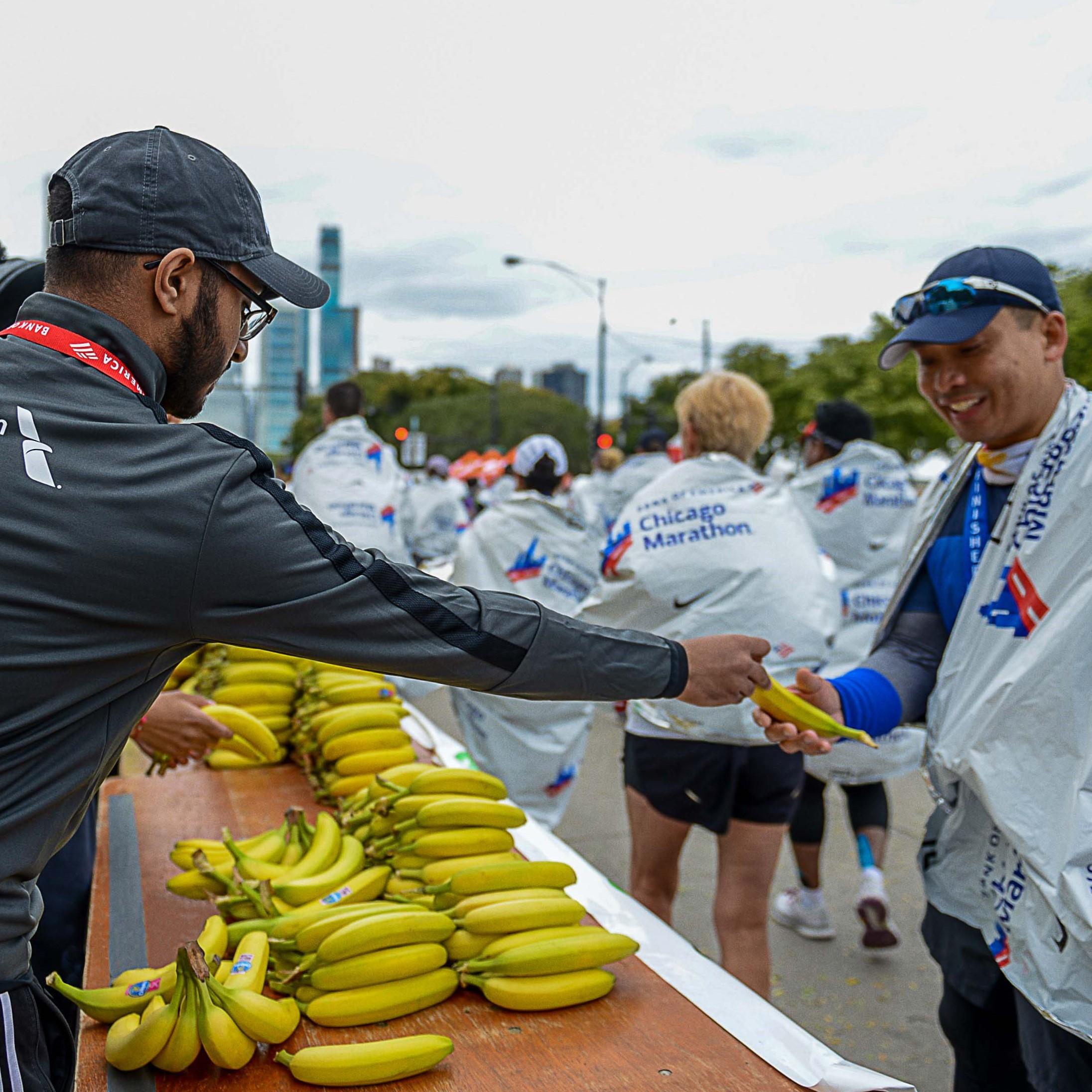 Chicago marathon Chiquita bananas
